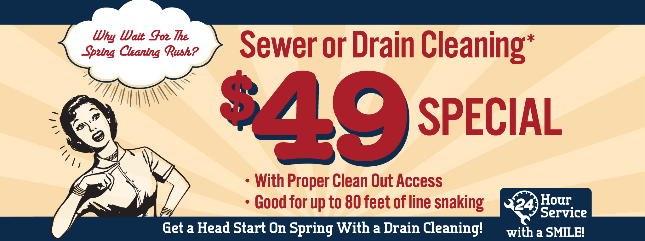 Sewer Drain Cleaning Special